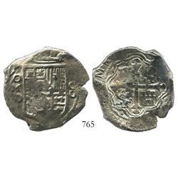 Mexico City, Mexico, cob 8 reales, 1622D.