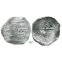 Mexico City, Mexico, cob 8 reales, 1627D.