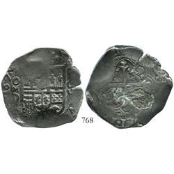 Mexico City, Mexico, cob 8 reales, 1629D, rare.