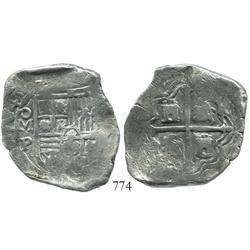 Mexico City, Mexico, cob 8 reales, 1645P, rare.