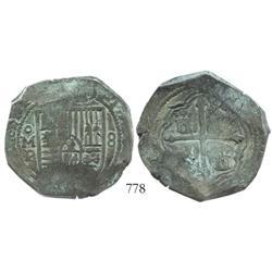 Mexico City, Mexico, cob 8 reales, (1)651P.