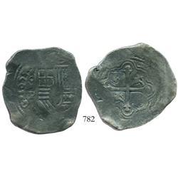 Mexico City, Mexico, cob 8 reales, 1655/4P.