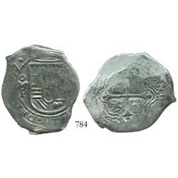 Mexico City, Mexico, cob 8 reales, (16)57P.