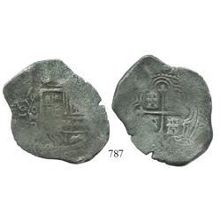 Mexico City, Mexico, cob 8 reales, 1659P.