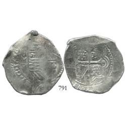 Mexico City, Mexico, cob 8 reales, 1664P, rare.