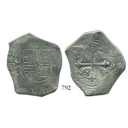 Mexico City, Mexico, cob 8 reales, (1)665P, rare.