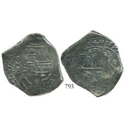 Mexico City, Mexico, cob 8 reales, 1665P.