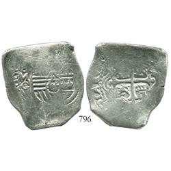 Mexico City, Mexico, cob 8 reales, 1668G, rare.
