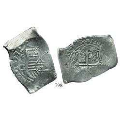 Mexico City, Mexico, cob 8 reales, 1677G, very rare.