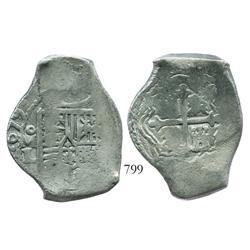 Mexico City, Mexico, cob 8 reales, 1679L.