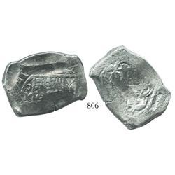 Mexico City, Mexico, cob 8 reales, 1721(J), rare.