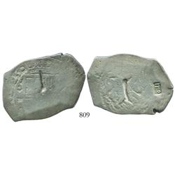 Mexico City, Mexico, cob 8 reales, (1)725D, very rare (possibly Louis I), with Indonesian countermar