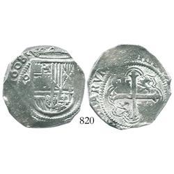 Mexico City, Mexico, cob 4 reales, 1608/7(F), rare.