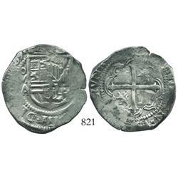 Mexico City, Mexico, cob 4 reales, (1)609/8A.