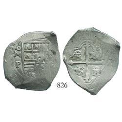 Mexico City, Mexico, cob 4 reales, (16)53P.