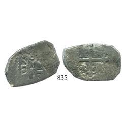 Mexico City, Mexico, cob 4 reales, 1730F.