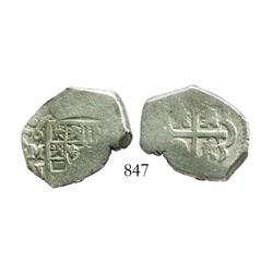 Mexico City, Mexico, cob 2 reales, 1716J.