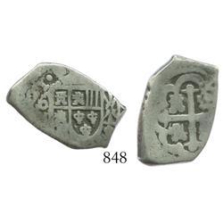 Mexico City, Mexico, cob 2 reales, (17)21(J).