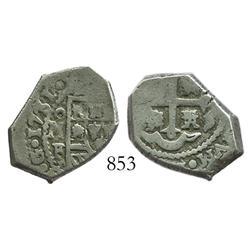 Mexico City, Mexico, cob 2 reales, 1731F.