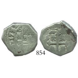 Mexico City, Mexico, cob 2 reales, 1732F.