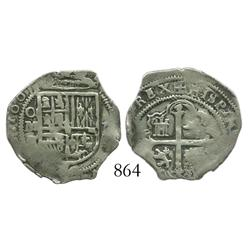 Mexico City, Mexico, cob 1 real, 1607F.