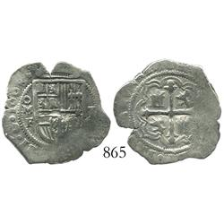 Mexico City, Mexico, cob 1 real, 1608F.