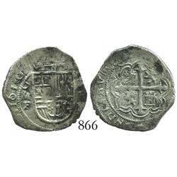 Mexico City, Mexico, cob 1 real, 1610/09F.