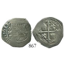 Mexico City, Mexico, cob 1 real, 1611/0F.