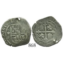 Mexico City, Mexico, cob 1 real, 1612F.
