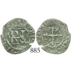 Mexico City, Mexico, cob 1/2 real, Philip II, assayer O (O to left, oM to right).