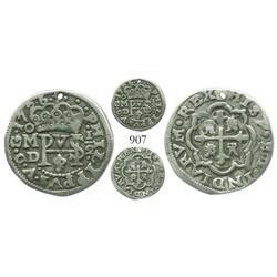 Mexico City, Mexico, cob 1/2 real Royal, 1726D.