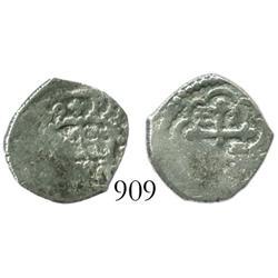 Mexico City, Mexico, cob 1/2 real, 1729(R).