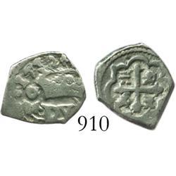 Mexico City, Mexico, cob 1/2 real, 1732(F).