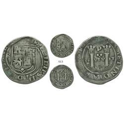 Lima, Peru, 2 reales, Philip II, assayer Rincon, motto as PL-VSV-LT, rare.