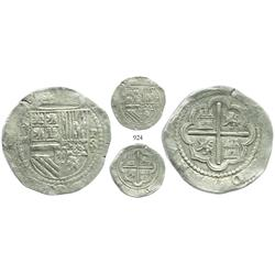 Lima, Peru, cob 4 reales, Philip II, assayer Diego de la Torre, *-iiii to left, P-oD/X to right, ver