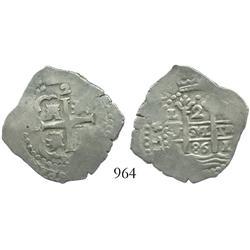 Lima, Peru, cob 2 reales, 1686R.