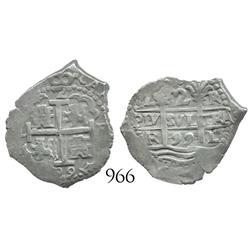 Lima, Peru, cob 2 reales, 1699R.
