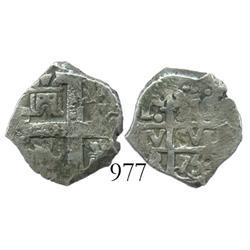 Lima, Peru, cob 1 real, 1750R, rare.