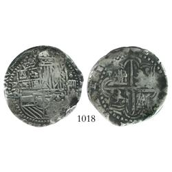 Potosi, Bolivia, cob 4 reales, Philip II, assayer B (5th period), encapsulated NCS genuine.