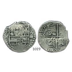 Potosi, Bolivia, cob 4 reales, Philip III, (1617)M.