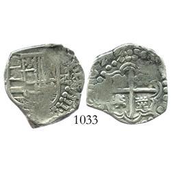 Potosi, Bolivia, cob 2 reales, 1629T.