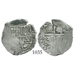 Potosi, Bolivia, cob 2 reales, Philip IV, assayer not visible (style of 1649O).