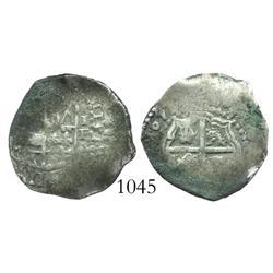 Potosi, Bolivia, cob 1 real, 1651E, scarce.