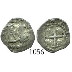 Potosi, Bolivia, cob 1/2 real, Philip IV, type with no date nor assayer nor mintmark.