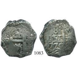 Potosi, Bolivia, cob 8 reales, 1770V-(Y).