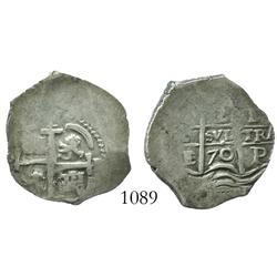 Potosi, Bolivia, cob 2 reales, 1670E.