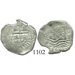 Potosi, Bolivia, cob 1 real, 1652E post-transitional.