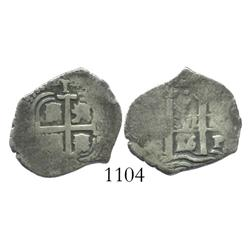Potosi, Bolivia, cob 1 real, 1656E.
