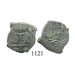 Potosi, Bolivia, cob 1 real, 1688VR.
