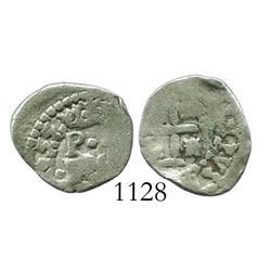 Potosi, Bolivia, cob 1/2 real, 1655, rare.